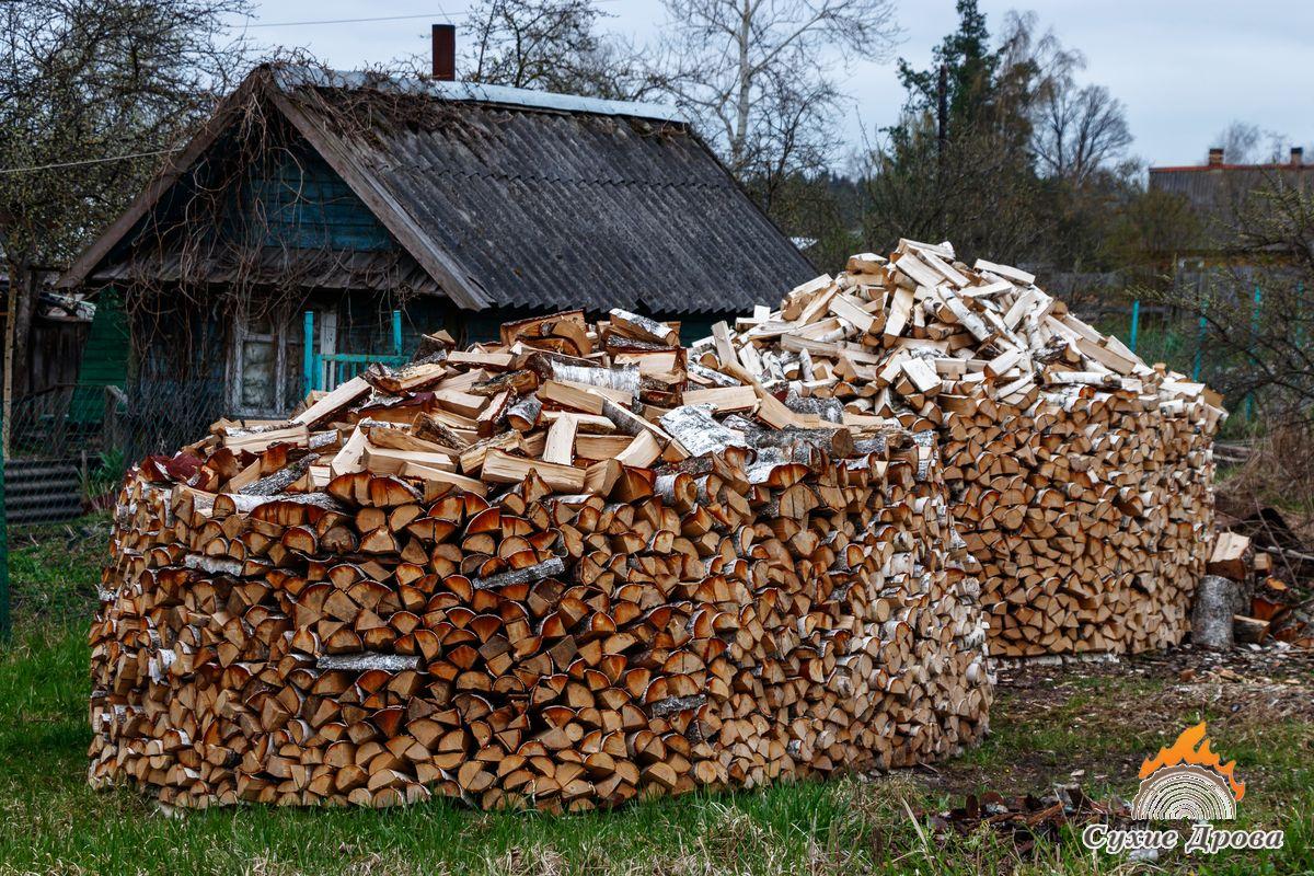 Укладка дров стогом