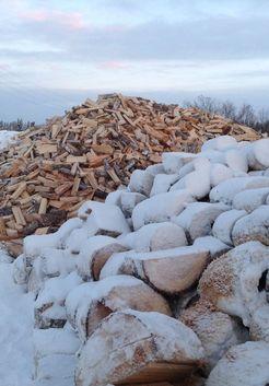 дрова зимой